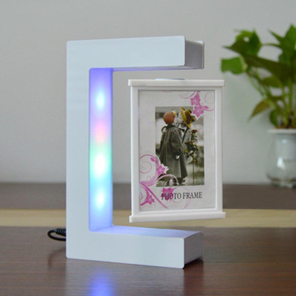 Levitação magnética com luz led quadro criativo casa mobiliário presentes de aniversário