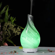 3D Glass Aromatherapy Essential Oil Diffuser 7 color Changing Night Light Mist Maker Air Humidifier For Home Office