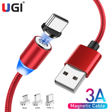 UGI Magnetic USB Cable 3A Fast Charging USB Type C Cable Magnet Charger For iPhone Data Charge Micro USB Cable Mobile Phone Cord magnetic usb cable fast charging usb type c cable magnet charger data charge micro usb cable mobile phone cable for iphone 11 xs