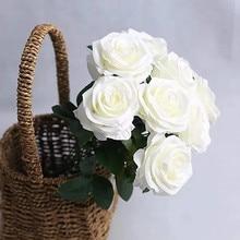 1Pc 50CM Rose 10Head Artificial Flowers Thousand Layer High Grade Flower Bouquet Wedding Home Decorative Fake