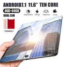 Get more info on the new Years gift New WiFi Tablet PC 11.6 Inch Ten Core 4G Network Android 7.1 Arge 2560*1600 IPS Screen Dual SIM Dual Camera Rear