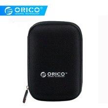 ORICO 2,5 дюймовый защитный чехол для жесткого диска, сумка для внешнего портативного жесткого диска, Портативная сумка для жесткого диска, внешний аккумулятор, USB кабель, чехол для хранения