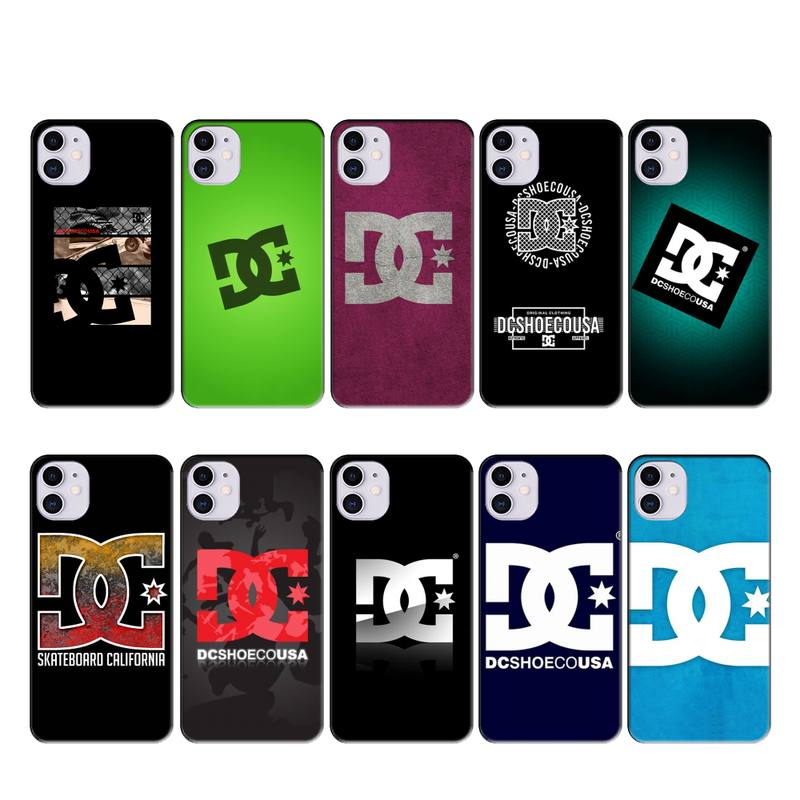 LouisY Skateboard Logos Pics Black Soft Shell Phone Case Capa for iphone 11 PRO MAX X XS XR 4S 5S 6S 7 8 PLUS SE 2020