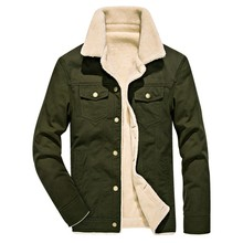Mens Cargo Jacket Autumn Winter Casual Fashion Pure Color Jackets Button Outwear Coat Tops Male Clothes M-4XL