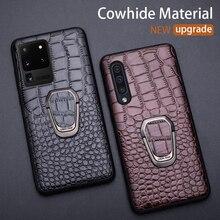 Cassa di cuoio Del Telefono Per Samsung Galaxy S20 Ultra S10 S10e S8 S9 S7 bordo Nota 8 9 10 20 Più a10 A20 A30 A40 A50 A70 A51 A71 Copertura