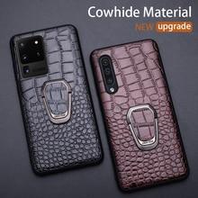Funda de cuero para teléfono Samsung Galaxy, protector de cuero para Samsung Galaxy S20 Ultra S10 S10e S8 S9 S7 edge Note 8 9 10 20 Plus A10 A20 A30 A40 A50 A70 A51 A71