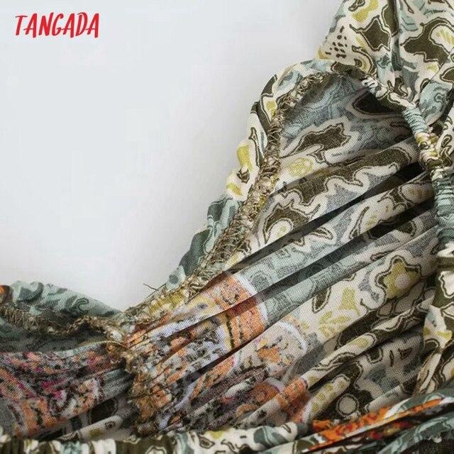 Tangada Women Sexy Flower Print Halter Dress Sleeveless Backless 2021 Summer Fashion Lady Dresses 3H790 4