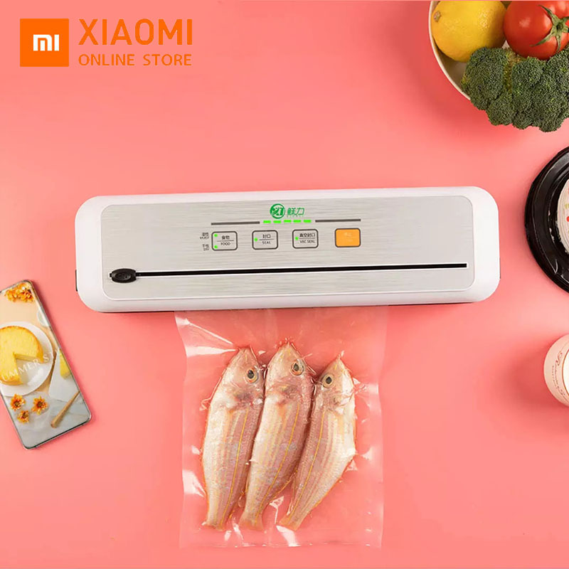 Xiaomi Mi Vacuum And Sealing Machine Freshness Household Food Fresh Packing Machine Food Protector Include 10Pcs Bags Free