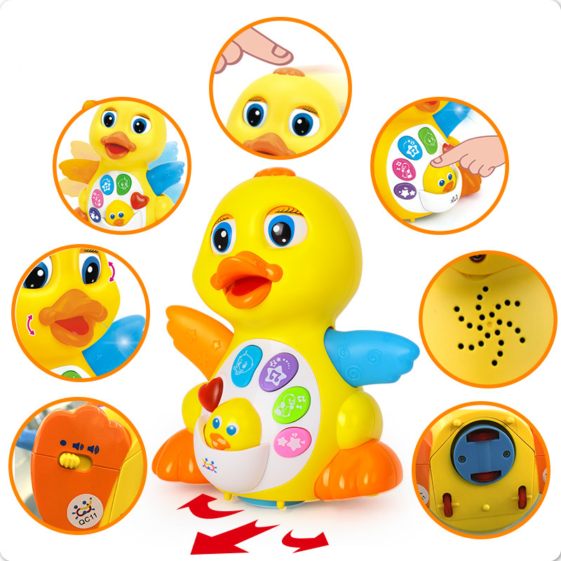 Baby Toys EQ Flapping Yellow Duck Infant Brinquedos Bebe Electrical Universal Toy For Children Kids 1-3 Years Old