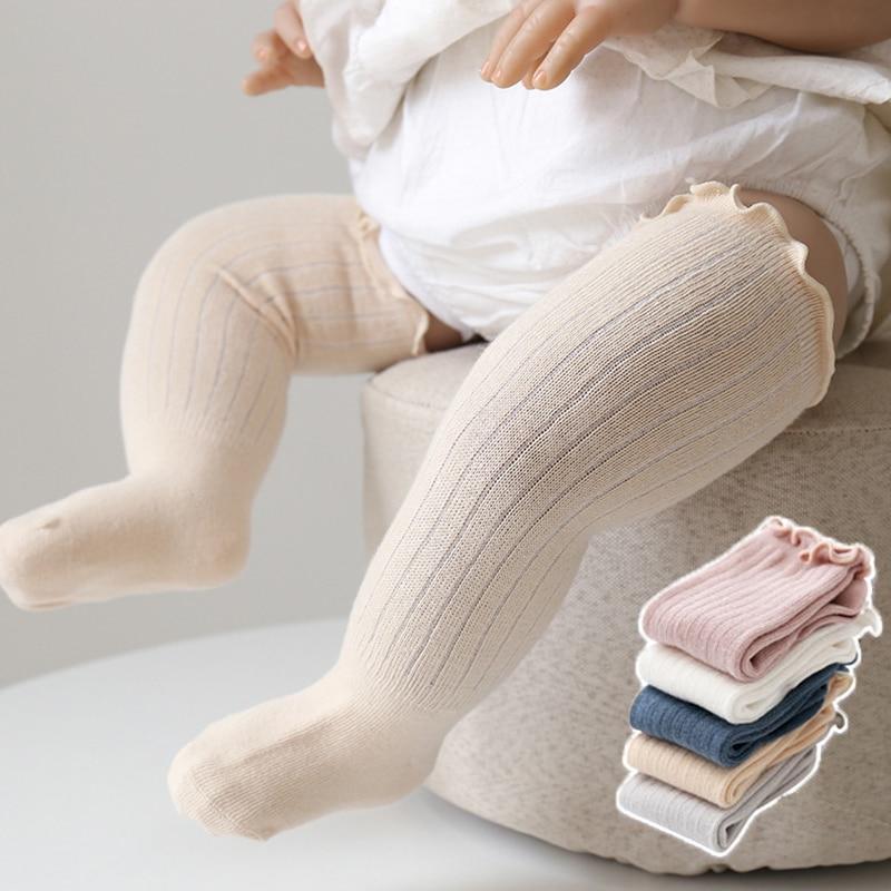 184.0¥ 43% OFF|赤ちゃん用の柔らかいスプリングソックス,女の子と男の子用のロングソックス,膝の高さ,無...