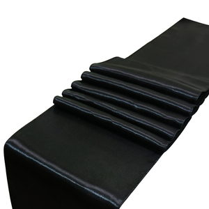 Image 3 - 10 pièces/ensemble 30x275cm Jacquard Style Satin chemin de Table pour hôtel Table décoration mariage fête réception Table coureurs nappe