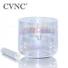 CVNC 440Hz veya 432Hz 8 not C # veya D kozmik ışık çakra temizle kuvars kristal şarkı söyleyen kase