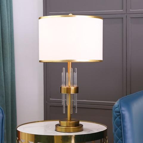 lampadas de mesa cristal moderno para o quarto casa decoracao interior luzes iluminacao cabeceira estudo