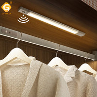 Motion Sensor DC Under Cabinet Light PIR Switch Cordless Wardrobe Cupboard Magnet Strip Lights Kitchen 40CM Clothes Night Lamp
