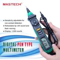 Mastech ms8211 펜 타입 디지털 멀티 미터 비접촉 ac 전압 검출기 자동 측정 테스트 클립 무료 배송
