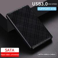 UTHAI T43 USB3.0 HDD 인클로저 2.5 인치 SATA2 3 하드 드라이브 박스 모바일 HDD 케이스 케이블 지원 6 테라바이트 고속 2020 신규
