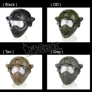 Image 4 - Volledige Gezicht Tactical Combat Helm Met Masker Militaire Airsoft Schieten Hoofd Beschermende Helmen Jacht Cs Wargame Helmen Masker