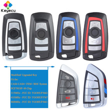 KEYECU Smart Remote Car Key With 4 Buttons PCF7953P 49 Chip   FOB for BMW FEM BDC CAS4 CAS4+ X3 F25 X4 F25 M2 F87 M3 M4 F80 F82