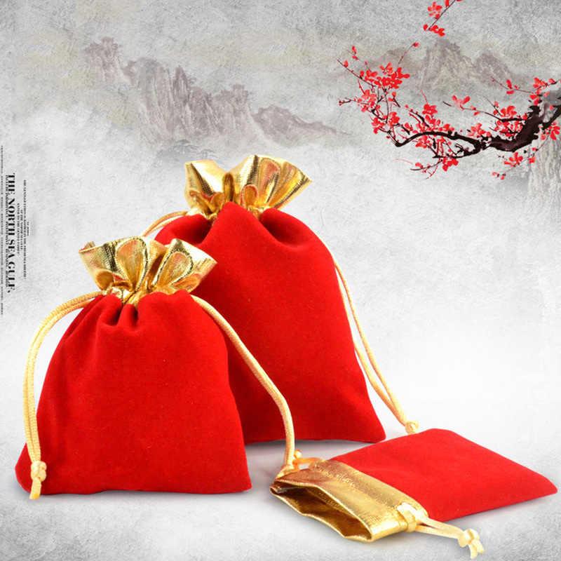 Ювелирный подарок декор обертывание сумка фланелевый шнурок карман карты ключ мини кошелек кольцо, ожерелье, серьги сумка для хранения маленький кошелек для монет