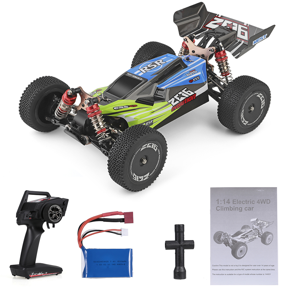 Wltoys XKS 144001 RC Car 60km/h High Speed 1/14 2.4GHz RC Buggy 4WD Racing Off-Road Drift Car RTR Toys Kid 6