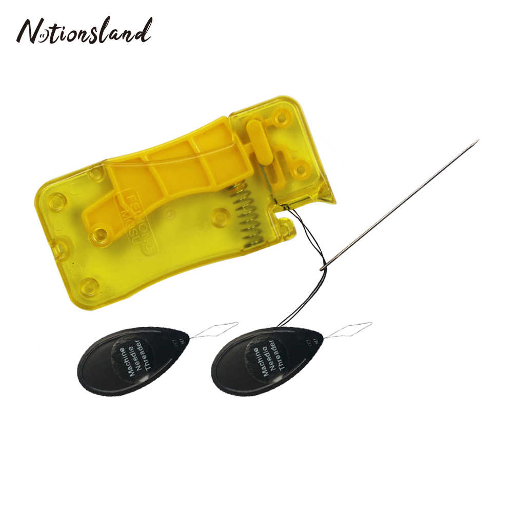 1pc Hand Draadinsteker Stitch Insertion Tool Threader Discussie Guide Tool Kledingstuk DIY Handwerken Naaien Accessoires