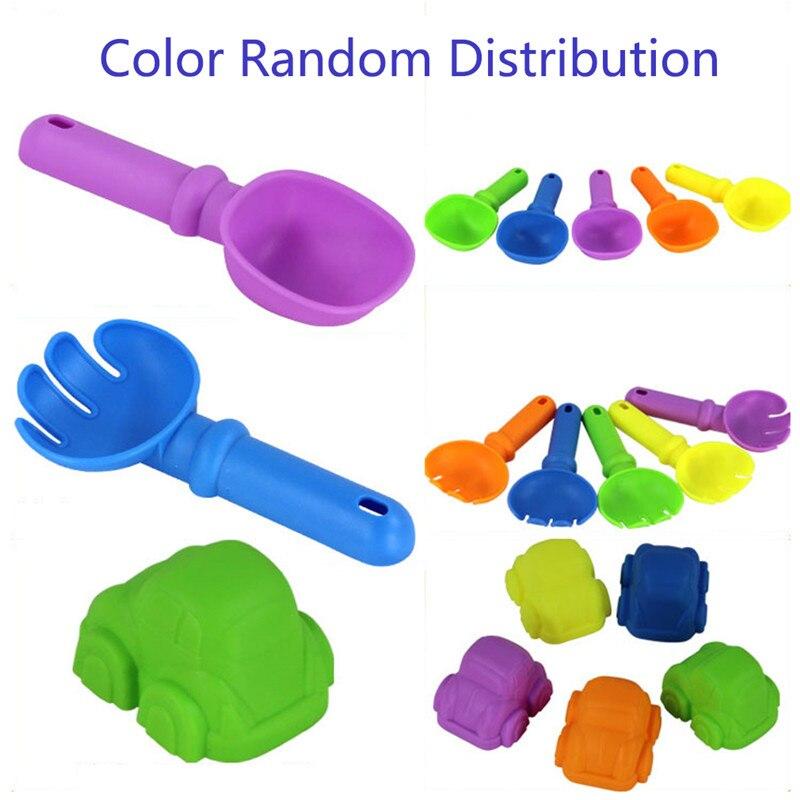 1 6Pcs Kids Plastic Beach Toys Summer Sand Sandbeach Car Aircraft Spade Shovel Rake Water Tools Sets Children Toys Random Color