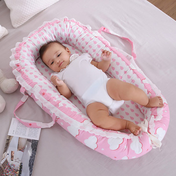 Potrable Baby Crib Foldable Bionic Nest Bed Infant Travel Bed Toddler Cotton Cradle Cot for Newborn Baby Bed Bassinet Bumper portable bionic baby nest bed removable infant cradle cot washable newborn travel folding baby crib bumper toddler care beds