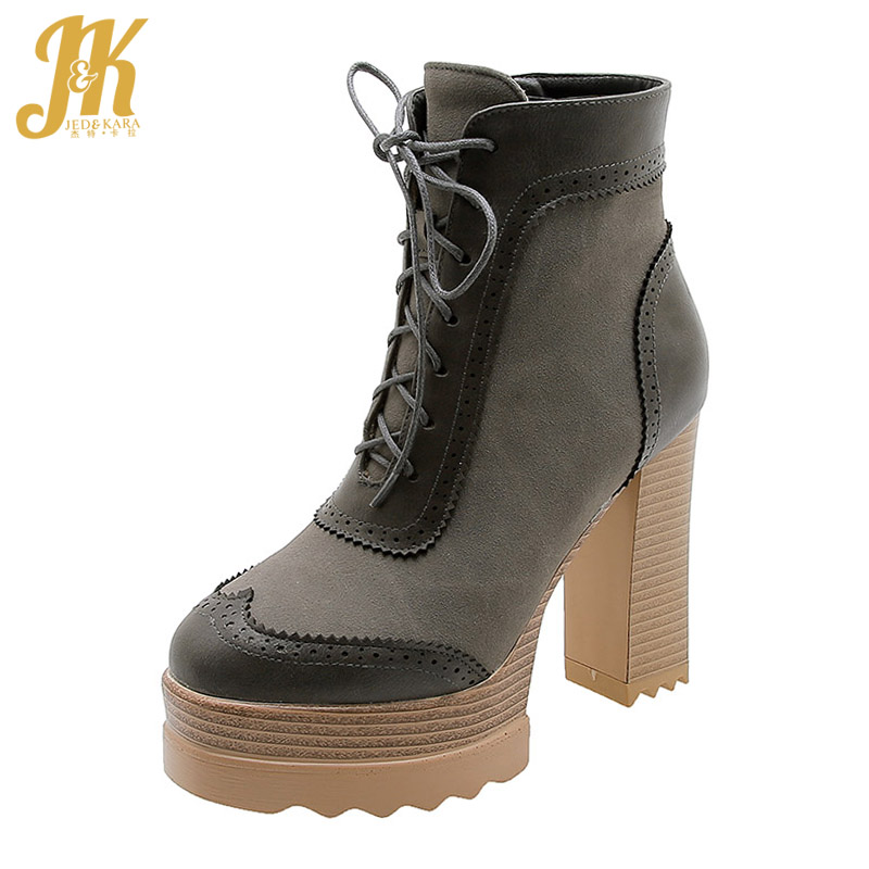 Womens Casual Round Toe Short Martin Boots Side Zip Lace Up Mid Chunky Heel Ankle Booties