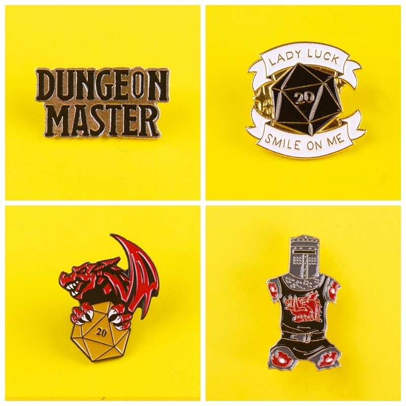 Pin For Backpack Dungeon Master Enamel Pins Kwii Badge On Clothes Anime Icons Stripe Set Metal Badges Paired Jewelry