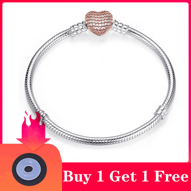 CHIELOYS High Quality Authentic Silver Color Snake Chain Fine Bracelet 2