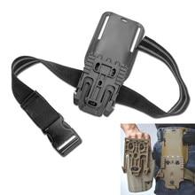 Tactical coxa cinta gota perna coldre qls 19 22 mid-low cinto coldre loop para safa série arma coldre acessórios