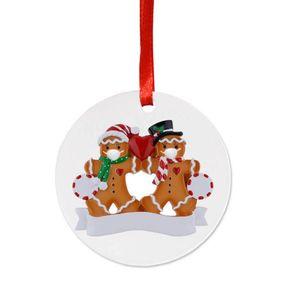 Новый Ersonalized 2-5 членов семьи имя Рождество орнамент набор сделай сам креативный подарок Рождество орнамент семья индивидуальные Рождество