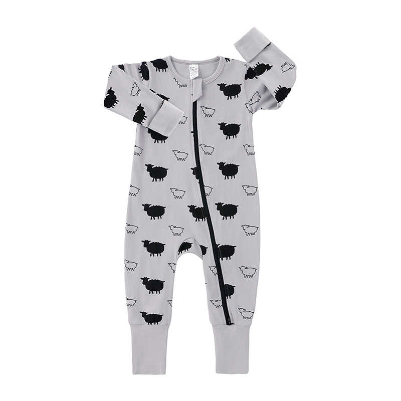 Spring Autumn Baby Romper Long Sleeves Cotton Baby Pajamas Cartoon sheep Printed Newborn Baby Girls Boys Clothes HY214