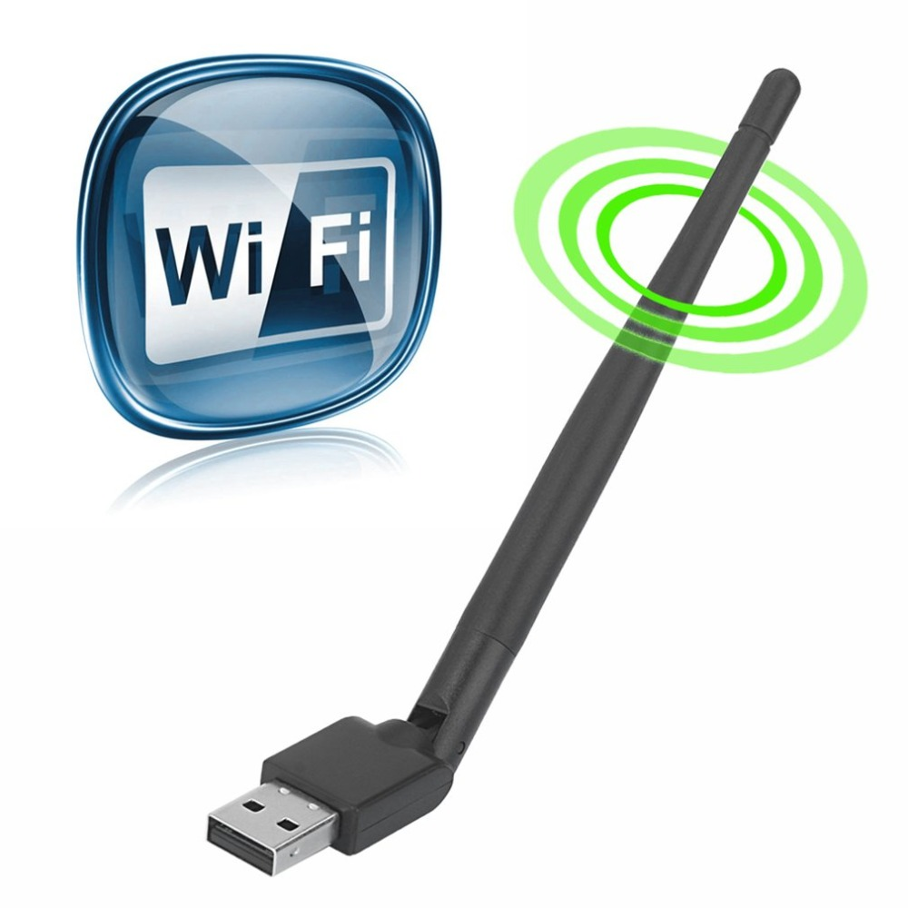 Rt5370 USB 2.0 150Mbps WiFi Antenna MTK7601 Wireless Network Card  802.11b/g/n LAN Adapter With Rotatable Antenna