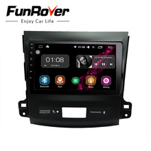 Funrover Android Car dvd radio GPS navi multimedia for Mitsubishi Outlander 2006-2014 Peugeot 4007 Citroen C-Crosser RDS wifi FM(China)