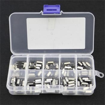 10Values HC-49S Quartz Resonator SMD Crystal Oscillator Kit 4MHz 6MHz 8MHz 12MHz 16MHz 24MHz 25MHz 48MHz 2Pin diy electronic set usb logic analyzer 24m 8ch microcontroller arm fpga debug tool 24mhz 16mhz 12mhz 8mhz 4mhz 2mhz