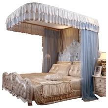 אופנה חשמלי כילה בית 1.8 M מיטת רכבת גלגלת חדש עבה נסיכת וילונות מיטת כילה עיצוב הבית