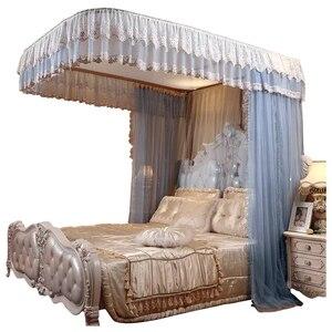Image 1 - Moda elétrica mosquito net casa 1.8 m cama ferroviário polia nova grossa princesa cortinas cama mosquiteiro decoração para casa