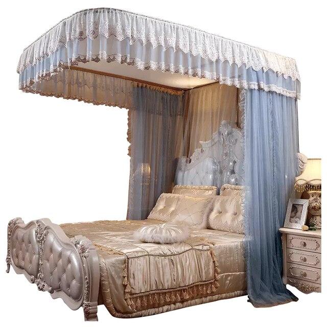 Moda elétrica mosquito net casa 1.8 m cama ferroviário polia nova grossa princesa cortinas cama mosquiteiro decoração para casa
