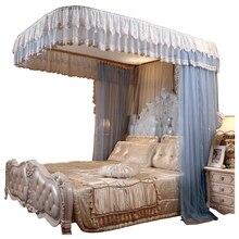 Moda elektrikli sivrisinek Net ev 1.8 M yatak ray kasnak yeni kalın prenses perdeleri yatak cibinlik ev dekorasyon
