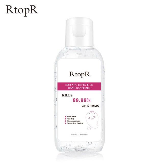RtopR נייד 99.9% נגד חיידקים 75% אלכוהול יד Sanitizer אנטיבקטריאלי אינו דביק חד פעמי מהיר יבש יד נקי ג ל 55ml