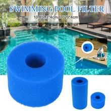 Плавание губка бассейн фильтр пена мини многоразовый фильтр картридж Intex S1 тип SPA моющийся легкий картридж пена открытый
