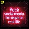 Неоновая вывеска для Uck Social медиа dope in life реальные неоновые лампы знак знаковых пивной бар пользовательские лампы рекламировать Letrero enseigne ...