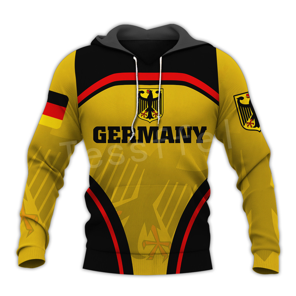 Tessffel Newest Germany Country Flag Art NewFashion Men/Women Funny Autumn Sweatshirt 3Dprint Men's hoodies long sleeve pullover