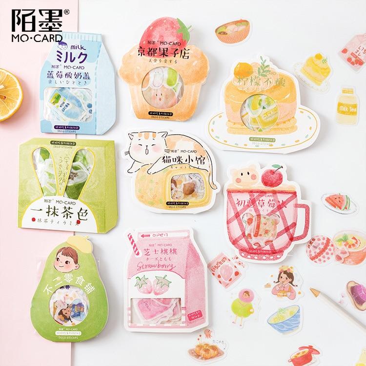 40pcs/lot Kawaii Strawberry Peach Japanese Decorative Stationery Stickers Scrapbooking Diy Diary Album Stick Label