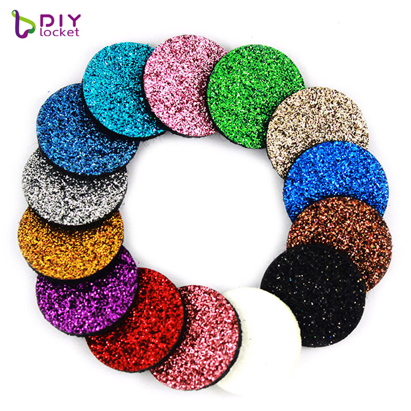 20pcs/lot Colorful Glint Aromatherapy Felt Pads 22.5mm Fit For 30mm Essential Oil Diffuser Perfume Locket LSPA06