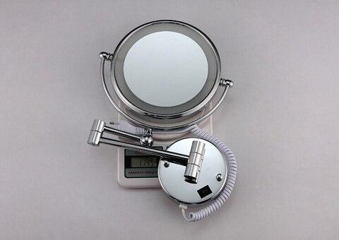 redondo led maquiagem espelho bateria compoem espelhos privados da senhora