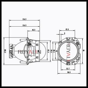 Image 3 - ROYALIN Metal For Hella 3R G5 Bi Xenon Headlights Lens D2S Lights Projector Universal Car Lamp D1S D2H D3S D4S Bulbs Retrofit