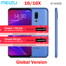 Meizu 16 16X Global, 64 ГБ rom, мобильный телефон Snapdragon 710, четыре ядра, 6,0 дюймов, 2160x1080 P, полный экран, двойная камера заднего вида