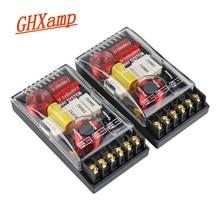 Ghxamp 200 w 2 vias áudio do carro crossover placa agudos graves divisor de freqüência high-end 5-6.5 polegada alto-falante 4ohm 3000 hz 2 pces